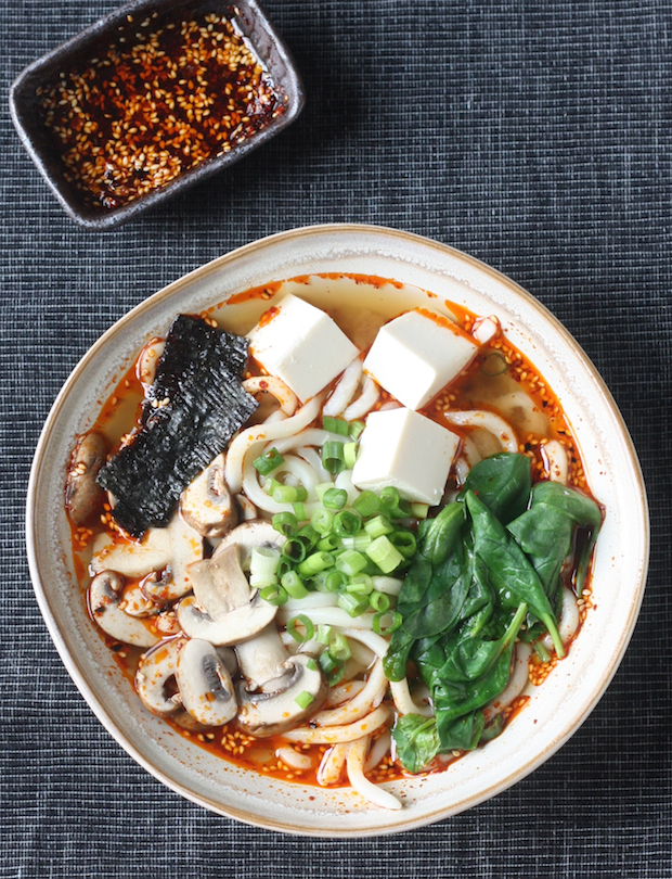 Miso Udon with Spicy Korean Chili Dressing by SeasonWithSpice.com
