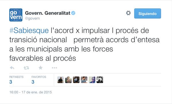 Twitter, govern, generalitat de catalunya, cataluña, generalitat, tuit generalitat