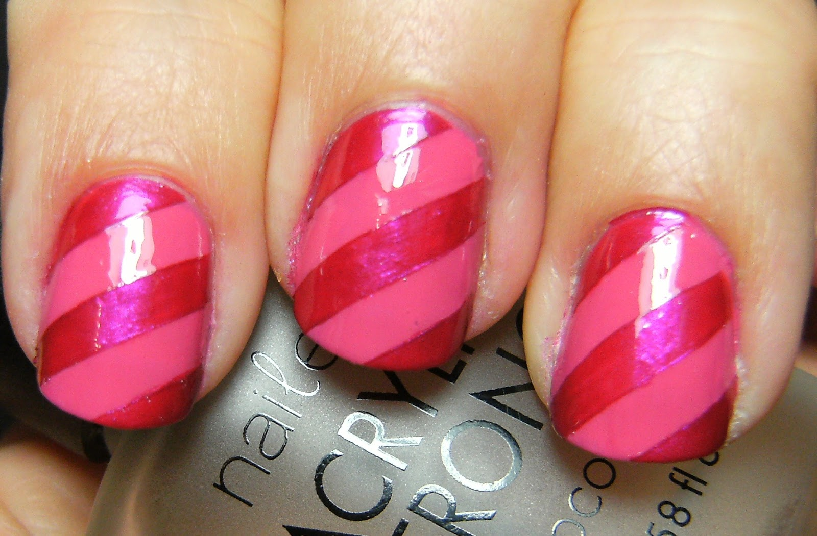 Deez Nailz: Wet n Wild Pink Stripes