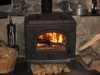 This stove heats most of my stone-built farmhouse very efficiently. The wood is all collected, sawn and split by me from the farm. Yes, I know this isn't an option for most of us.