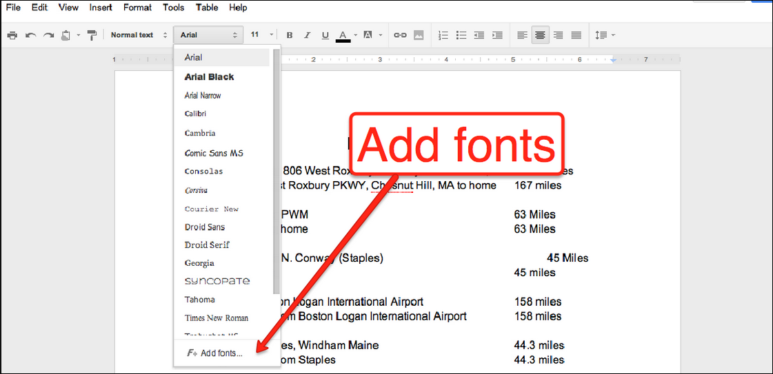 Free technology for teachers how to add 450 fonts to for Fonts for google docs android