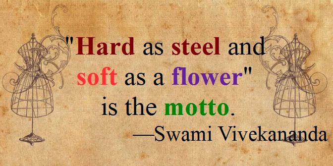 """Hard as steel and soft as a flower"" is the motto."
