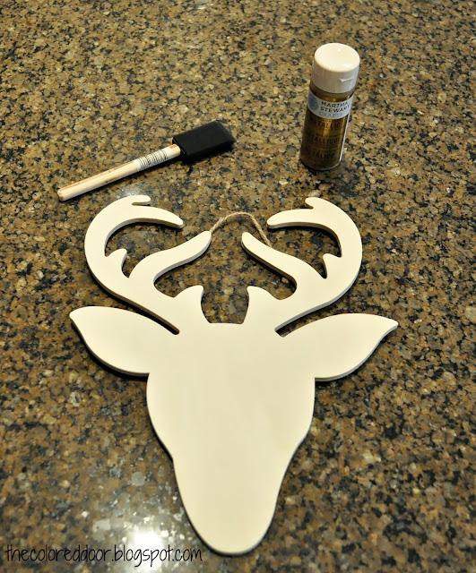glitter reindeer- the colored door