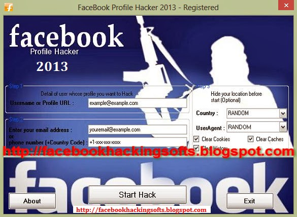 FaceBook Profile Hacker 2013