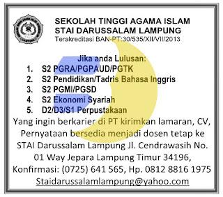 Sekolah Tinggi Agama Islam STAI Darussalam Lampung