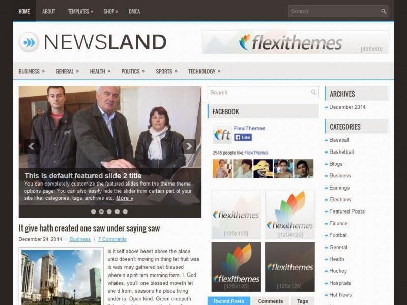 NewsLand - Free Wordpress Theme