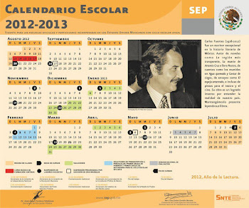 CALENDARIO ESCOLAR 2012-2013