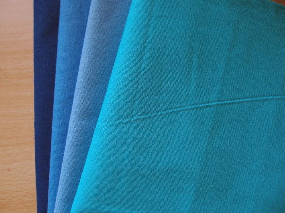 пачуърк платове в синьо №2