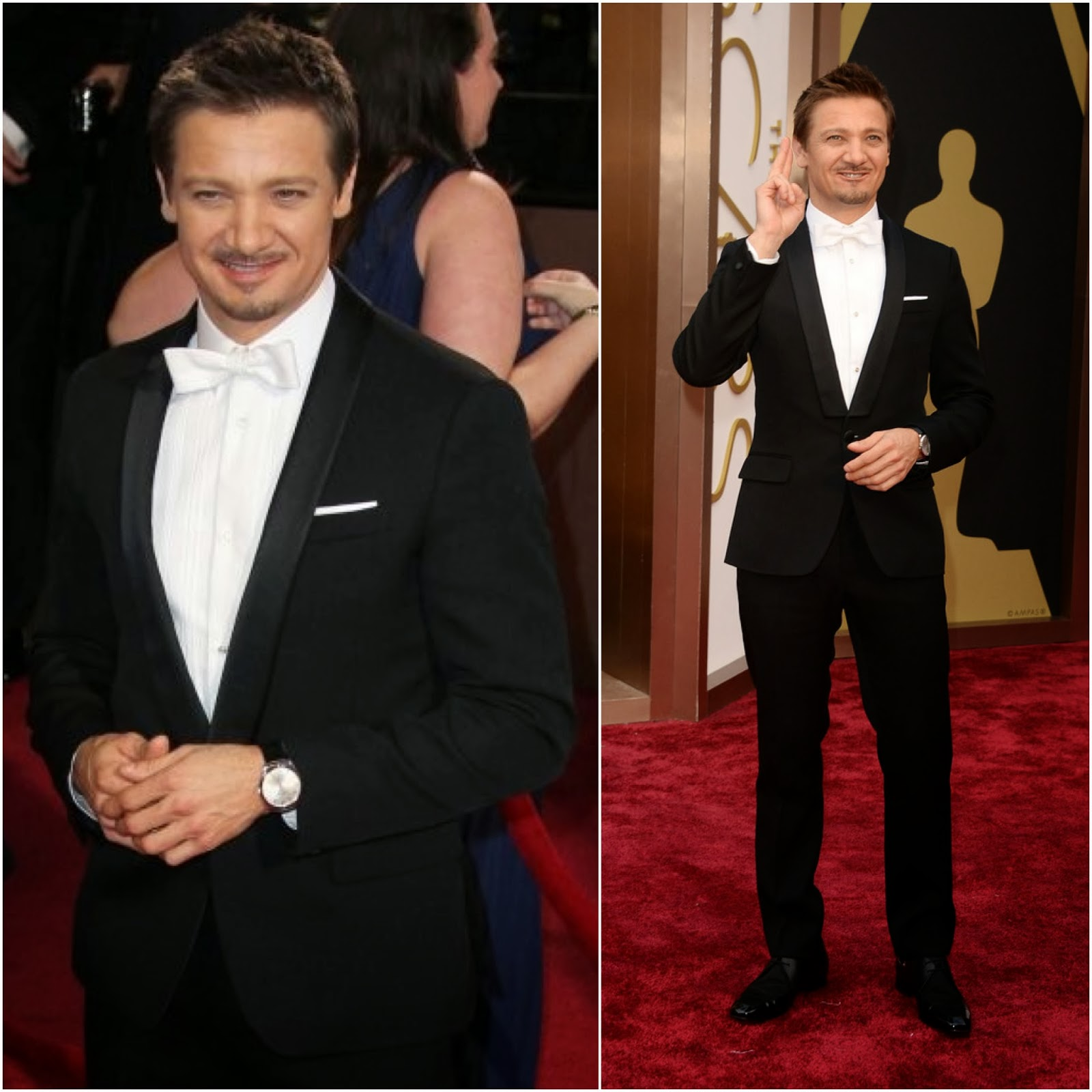 Jeremy Renner in Givenchy by Riccardo Tisci - 86th Annual Academy Awards