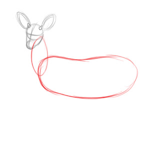 how to draw deer - step 3