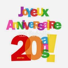 SMS pour souhaiter joyeux anniversaire 20 ans