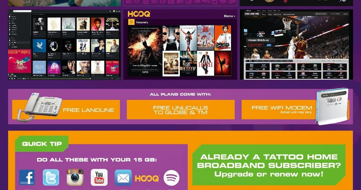 Globe Tattoo @Home Broadband Internet: The All New Project ...