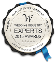 DJ:Plus! Entertainment Winner Best & Most Popular Wedding DJ in Australia 2015