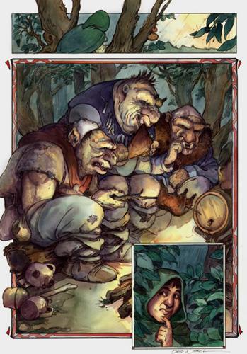 l  Hobbit: Historia de una ida y una vuelta por Chuck Dixon y David Wenzel (trolls)
