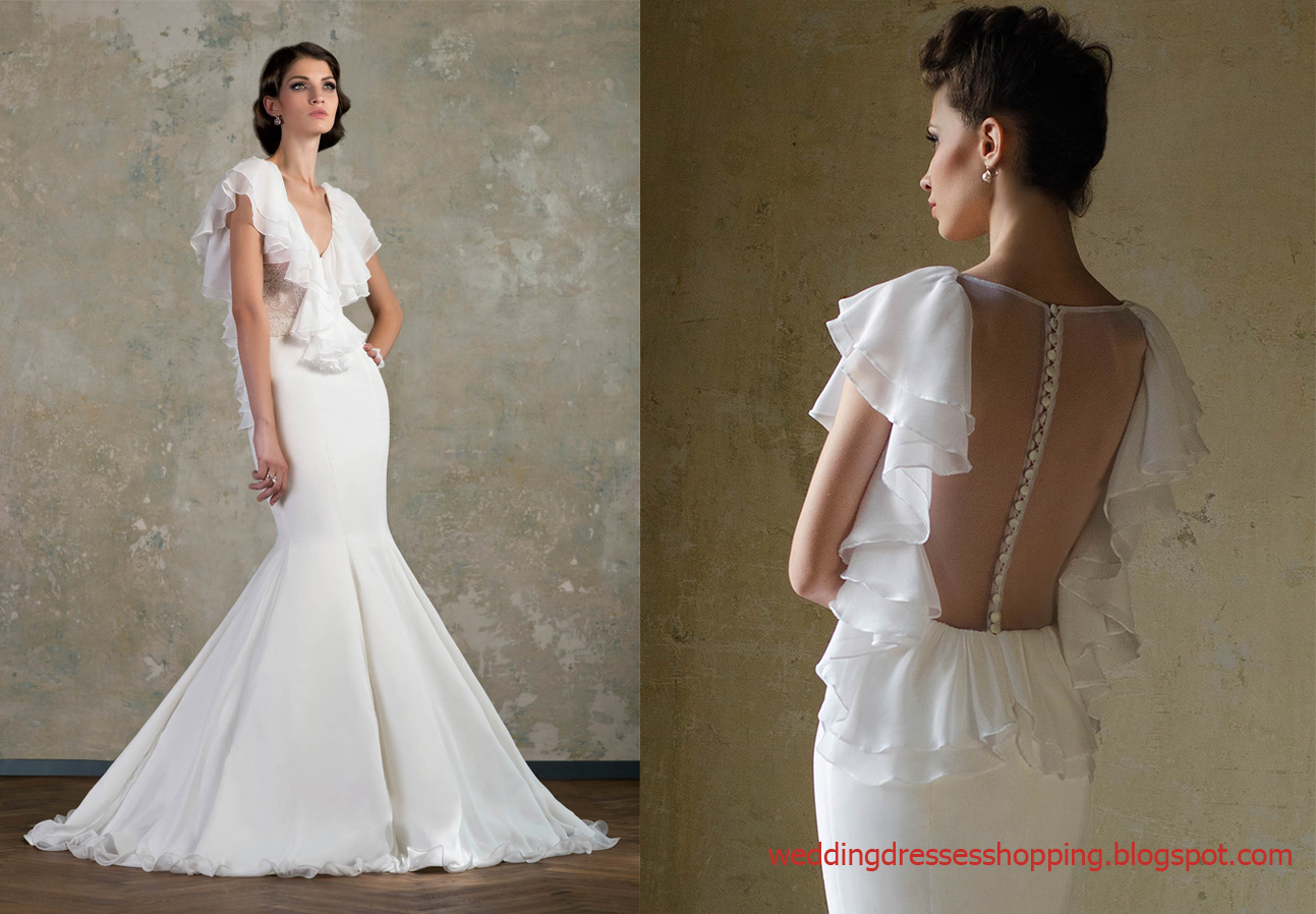 Blog for dress shopping wedding dresses 2014 new trend for Wedding dresses with ruffles