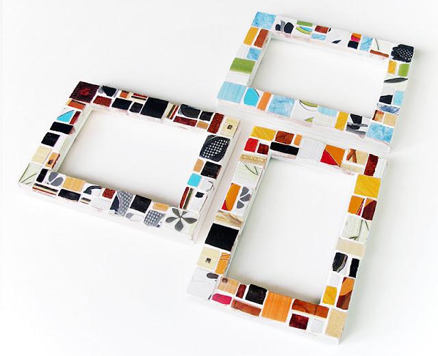 Ramki na zdjęcia ozdobione mozaiką