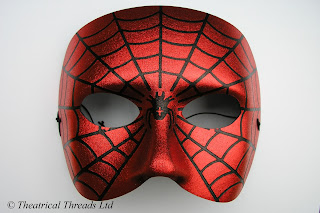 Spiderman Italian Masquerade Ball Halloween Mask from Theatrical Threads Ltd