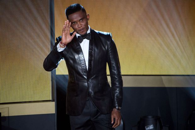 Eto'o en la gala Fifa Ballon d'Or awards