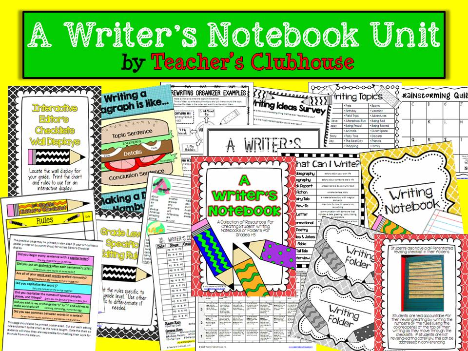 http://www.teacherspayteachers.com/Product/A-Writers-Notebook-Unit-835817