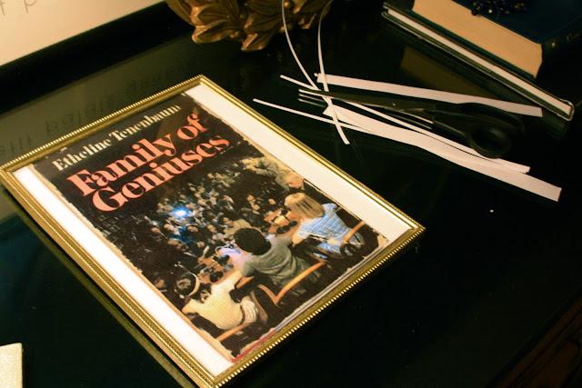 The Royal Tenenbaums Family of Geniuses framed book print