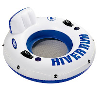intex river run inflatable tube cup holders