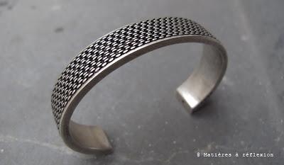 bracelet homme argenté Orner