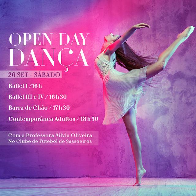 Open Day de Dança, 26 de Setembro, Prof. Silvia Oliveira, Clube de Futebol de Sassoeiros