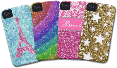Glittery iPhone 4 cases
