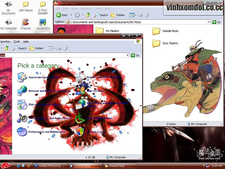 Download Tema Naruto Untuk Windows XP