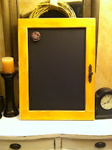 Chunky Yellow Chalkboard- SOLD