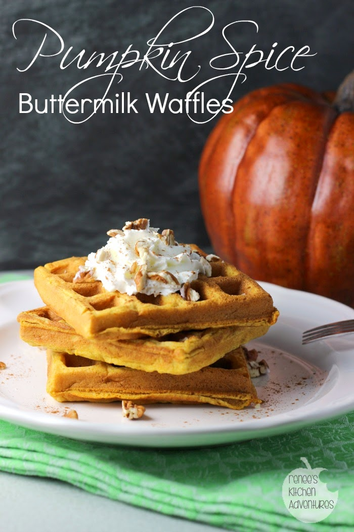 Pumpkin Spice Buttermilk Waffles: a taste of Fall