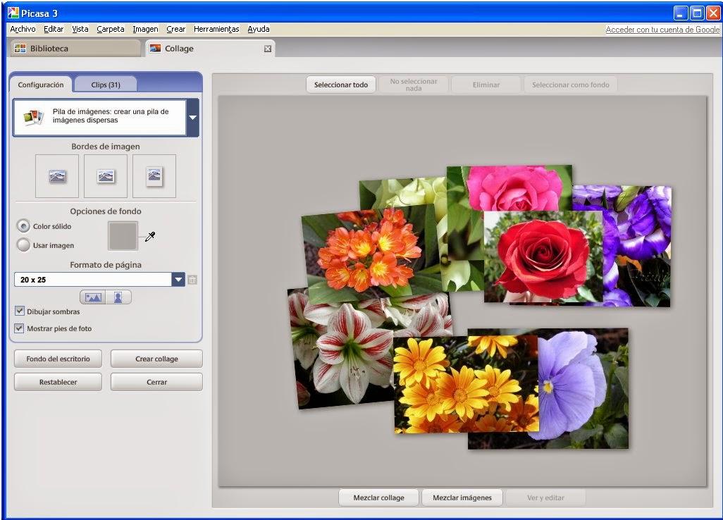 Aprendiendo en la Gota de Leche: Hacer un collage con Picasa (1ª parte)
