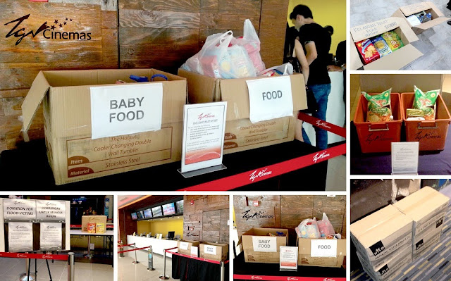 Pantai Timur flood donations TGV Cinemas Gurney Paragon
