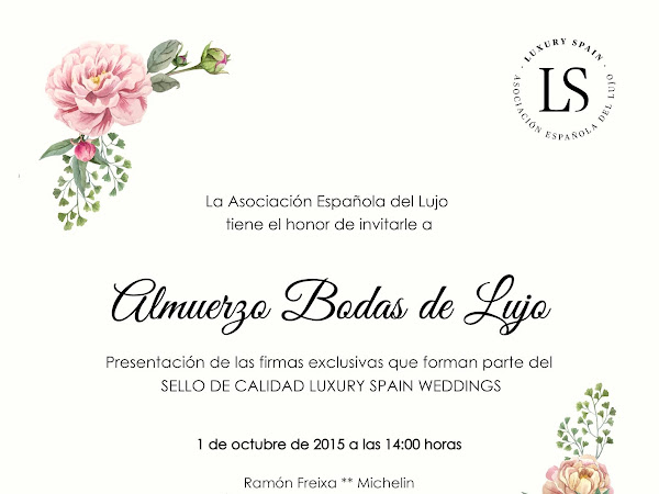 Sello de Calidad 'Luxury Spain Weddings'