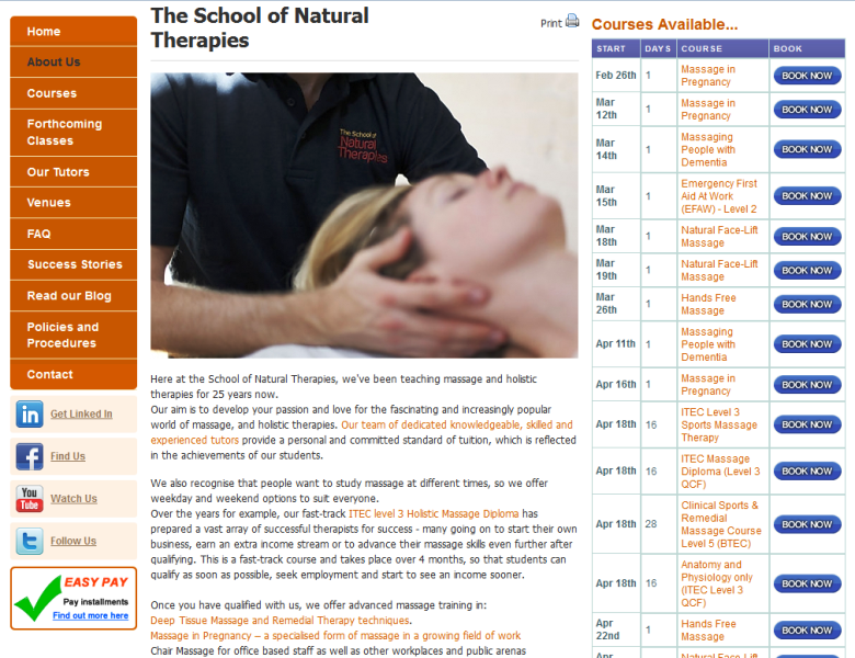 trusted provider of natural and holistic therapy courses in the UK