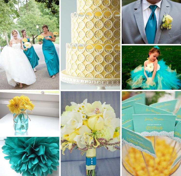 decoracao casamento azul turquesa e amarelo : decoracao casamento azul turquesa e amarelo:Fani Aquino Blog: O casamentos dos meus sonhos
