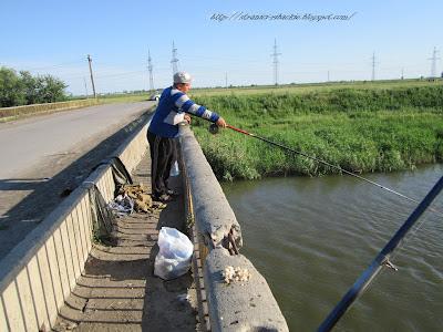 ловля в проводку с моста, р. Аксай, рыбалка на Аксае