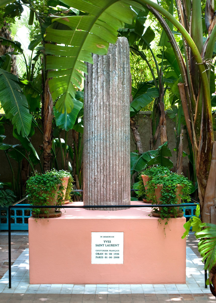 Yves Saint Laurent memorial at Jardin Majorelle