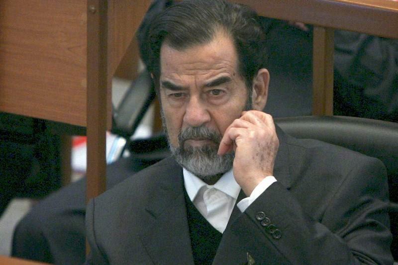 Резултат с изображение за Саддам Хюсеин е заловен близо до родния му град Тикрит.