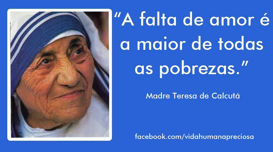 Tag Frases De Madre Teresa De Calcutá Sobre A Vida