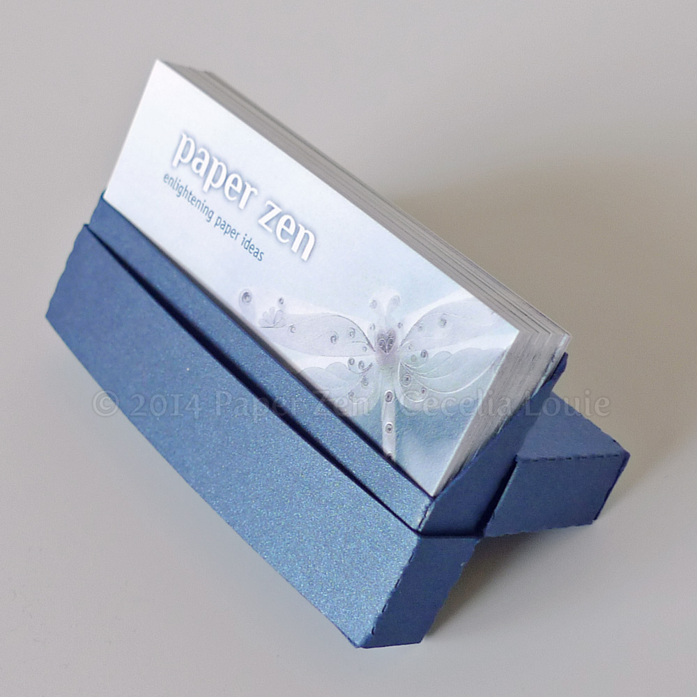 Paper Zen Business Card Holders via digital cutter