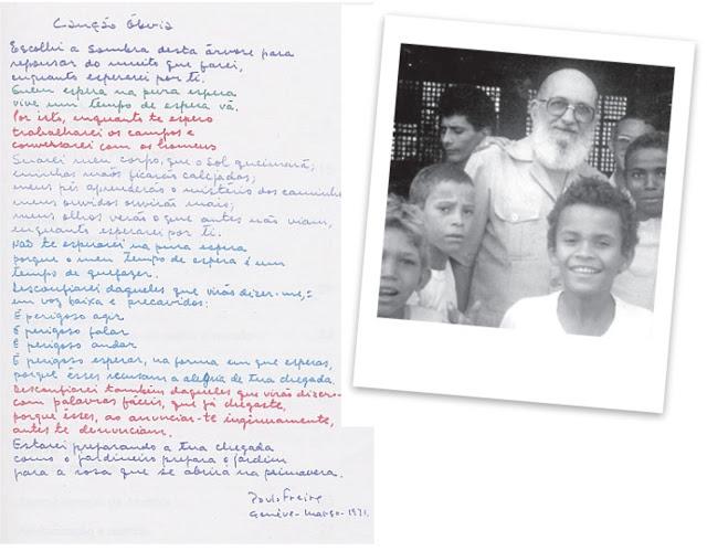Espaço Paulo Freire - Canção Óbvia - Pedagogia da Indignação