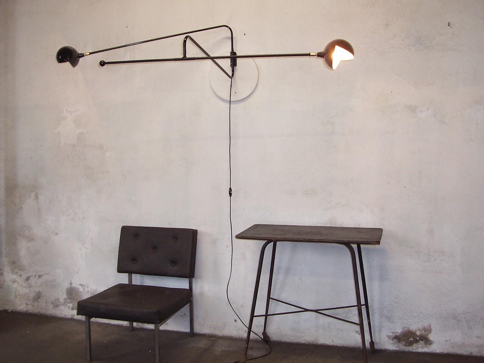 wall lights 2018 lampe potence applique m tal vintage design 1950 1. Black Bedroom Furniture Sets. Home Design Ideas