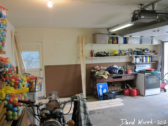 setting up shelf in garage, organize, 2x4 plans