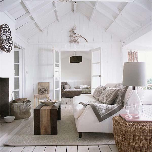salón en grises y blanco-cálido-étnico y rustico