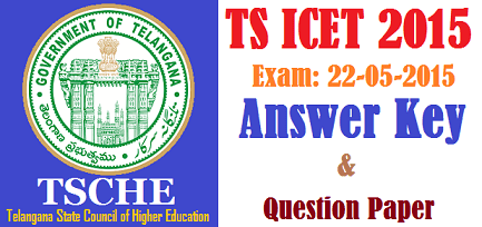 TS ICET Key 2015 - Telangana Answer Key 2015 ABCD