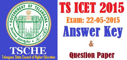 TS ICET Key 2015 - Telangana Answer Key 2015 ABCD