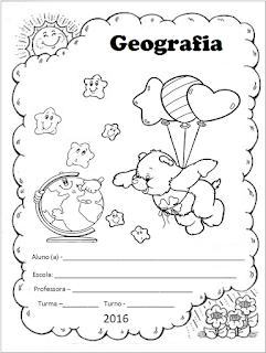 capinha de caderno geografia