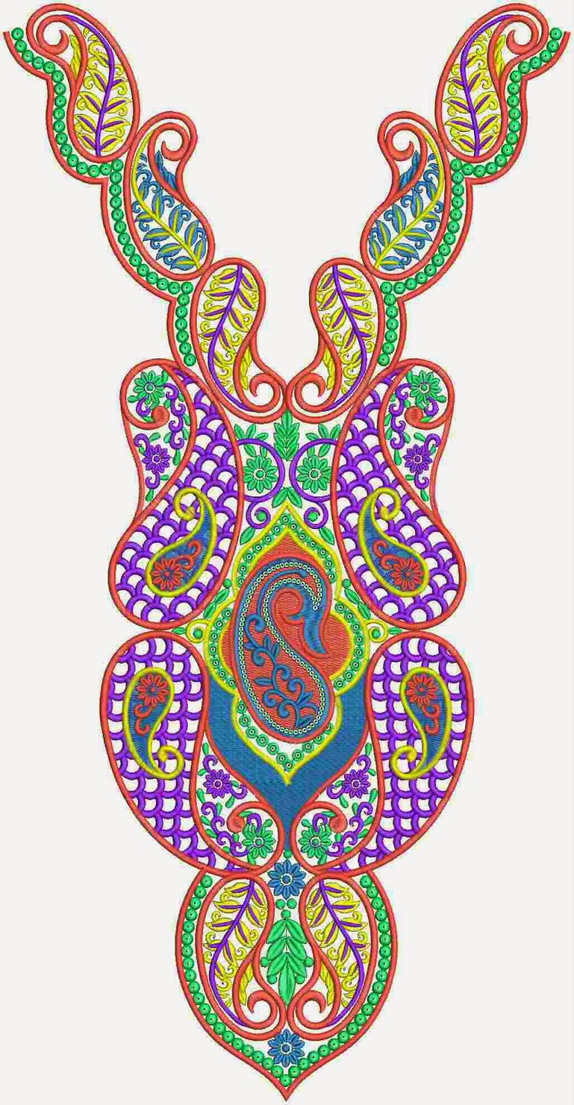 Embdesigntube Stylish Neck Embroidery Designs Collection