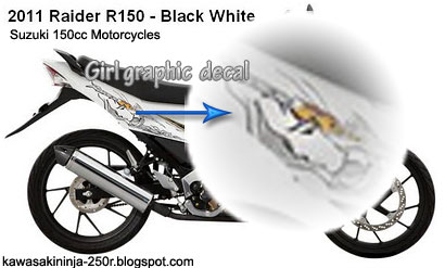Suzuki Raider 150R with girl graphic decal
